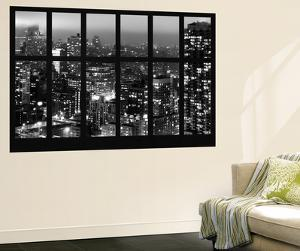 Wall Mural - Window View - Manhattan at Night with the New Yorker Hotel - New York by Philippe Hugonnard