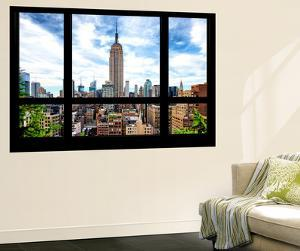 Wall Mural - Window View - Manhattan Cityscape with the Empire State Building - New York by Philippe Hugonnard