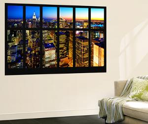 Wall Mural - Window View - Manhattan Skyline at Night - New York City by Philippe Hugonnard