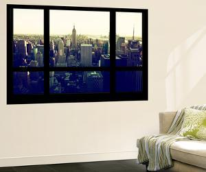 Wall Mural - Window View - Manhattan Skyline with the Empire State Building - New York City by Philippe Hugonnard
