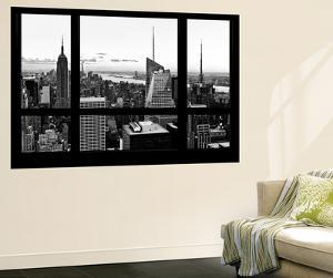 Wall Mural - Window View - Manhattan Skyline with the Empire State Building - New York by Philippe Hugonnard