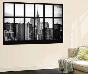 Wall Mural - Window View - Manhattan Skyscrapers with the Chrysler Building - New York by Philippe Hugonnard