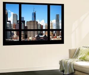 Wall Mural - Window View - Manhattan Skyscrapers with the One World Trade Center - New York by Philippe Hugonnard