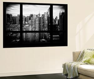 Wall Mural - Window View - Manhattan View with Times Square and 42nd Street - New York by Philippe Hugonnard