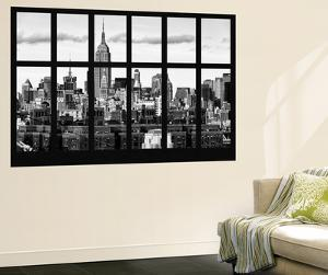 Wall Mural - Window View - Skyline Manhattan with the Empire State Building - New York by Philippe Hugonnard