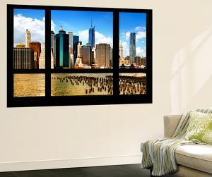 Wall Mural - Window View - Skyline Manhattan with the One World Trade Center - New York by Philippe Hugonnard