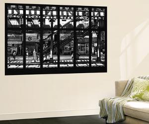 Wall Mural - Window View - Subway Station - Williamburg of Brooklyn - New York by Philippe Hugonnard