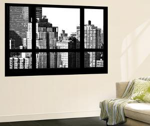 Wall Mural - Window View - The New Yorker Hotel - Manhattan - New York - B&W Photography by Philippe Hugonnard