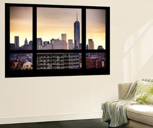 Wall Mural - Window View - The One World Trade Center (1 WTC) at Sunset - Manhattan - New York by Philippe Hugonnard