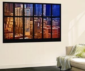 Wall Mural - Window View - Theater District Buildings of Manhattan - New York by Philippe Hugonnard
