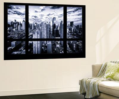 Wall Mural - Window View - Times Square and 42nd Street at Nightfall - Manhattan - New York by Philippe Hugonnard