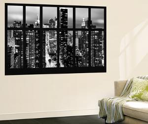 Wall Mural - Window View - Times Square and 42nd Street by Night - Manhattan - New York by Philippe Hugonnard
