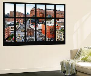 Wall Mural - Window View - Urban View of West Village - Chelsea - Manhattan - New York by Philippe Hugonnard