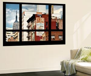Wall Mural - Window View - Urban View with the Empire State Building - Manhattan - New York by Philippe Hugonnard