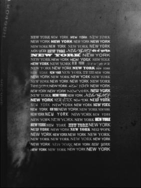 Wall Signs - New York - Urban Black and White Version by Philippe Hugonnard