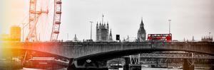 Waterloo Bridge and London Eye - Big Ben and Millennium Wheel - River Thames - City of London - UK by Philippe Hugonnard