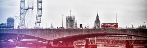 Waterloo Bridge and London Eye - Big Ben and Millennium Wheel - River Thames - City of London - UK by Philippe Hugonnard