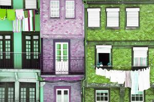 Welcome to Portugal Collection - Beautiful Colorful Traditional Facades III by Philippe Hugonnard