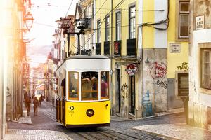 Welcome to Portugal Collection - Bica Tram in Lisbon III by Philippe Hugonnard