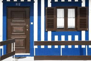 Welcome to Portugal Collection - Blue Striped Beach House by Philippe Hugonnard