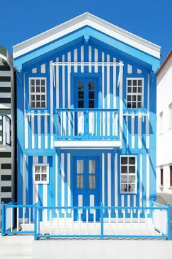 Welcome to Portugal Collection - Blue Striped House - Costa Nova by Philippe Hugonnard