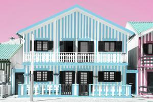Welcome to Portugal Collection - Blue Striped House by Philippe Hugonnard