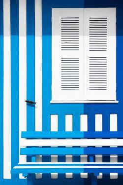 Welcome to Portugal Collection - Colorful Facade with Blue and Blue Marine Stripes by Philippe Hugonnard