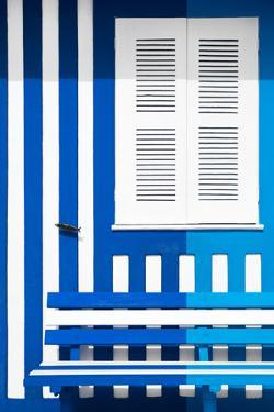 Welcome to Portugal Collection - Colorful Facade with Blue Marine and Blue Stripes by Philippe Hugonnard
