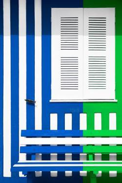 Welcome to Portugal Collection - Colorful Facade with Blue Marine and Green Stripes by Philippe Hugonnard