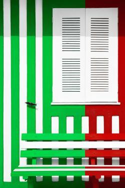 Welcome to Portugal Collection - Colorful Facade with Green and Red Stripes by Philippe Hugonnard
