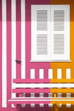 Welcome to Portugal Collection - Colorful Facade with Pink and Orange Stripes by Philippe Hugonnard