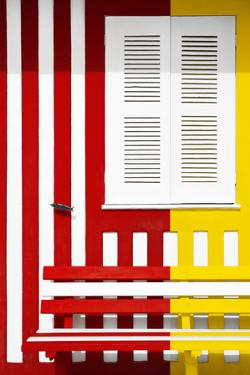 Welcome to Portugal Collection - Colorful Facade with Red and Yellow Stripes by Philippe Hugonnard