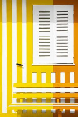 Welcome to Portugal Collection - Colorful Facade with Yellow and Orange Stripes by Philippe Hugonnard