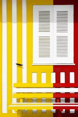 Welcome to Portugal Collection - Colorful Facade with Yellow and Red Stripes by Philippe Hugonnard