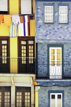 Welcome to Portugal Collection - Colorful Facades in Porto I by Philippe Hugonnard