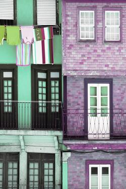 Welcome to Portugal Collection - Colorful Facades in Porto II by Philippe Hugonnard