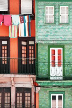 Welcome to Portugal Collection - Colourful Facades in Porto II by Philippe Hugonnard