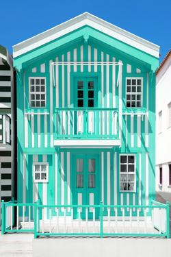 Welcome to Portugal Collection - Coral Green Striped House by Philippe Hugonnard