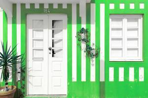Welcome to Portugal Collection - Costa Nova Green Facade by Philippe Hugonnard