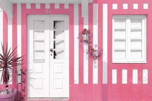 Welcome to Portugal Collection - Costa Nova Pink Facade by Philippe Hugonnard