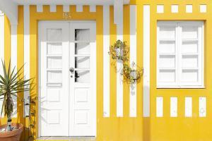 Welcome to Portugal Collection - Costa Nova Yellow Facade by Philippe Hugonnard