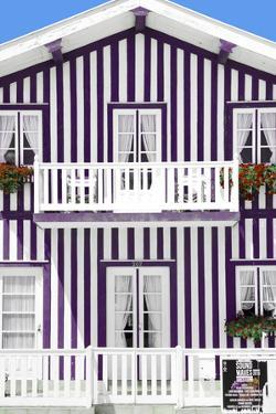Welcome to Portugal Collection - Facade Plum by Philippe Hugonnard