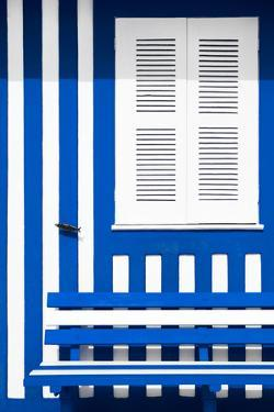 Welcome to Portugal Collection - House facade with Blue and White Stripes by Philippe Hugonnard
