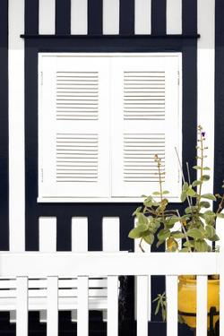 Welcome to Portugal Collection - House Facade with Navy Blue Stripes by Philippe Hugonnard