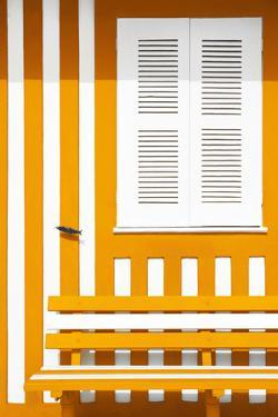 Welcome to Portugal Collection - House facade with Orange and White Stripes by Philippe Hugonnard