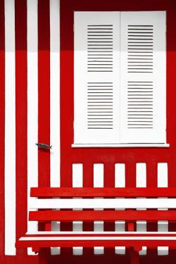 Welcome to Portugal Collection - House facade with Red and White Stripes by Philippe Hugonnard