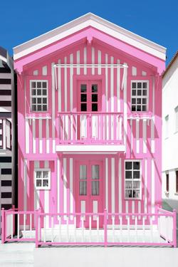 Welcome to Portugal Collection - Light Pink Striped House by Philippe Hugonnard