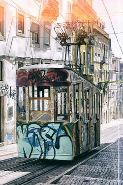 Welcome to Portugal Collection - Lisbon Bica Tram Graffiti II by Philippe Hugonnard