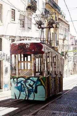 Welcome to Portugal Collection - Lisbon Bica Tram Graffiti III by Philippe Hugonnard