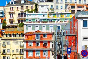 Welcome to Portugal Collection - Mix of Colorful Facades by Philippe Hugonnard